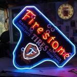 Firestone neon sign restored