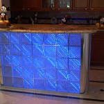 Bar with blue neon on.
