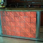Bar with red neon on.