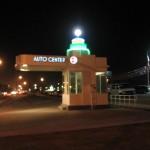 Auto center gas station