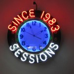Sessions neon clock