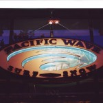Pacific Wave neon sign.